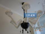 兰亭集势 创意六手托杯吊灯 现代简约卧室灯宜家书房灯饰客厅灯具