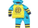 5131婴幼男童外套 春秋宝宝韩版长袖纯棉针织儿童大熊仔套装