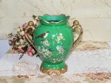 田园风格陶瓷花瓶花插工艺品 现代美式家居陶瓷摆件 艺术花瓶