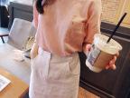 2015欧洲站新款女装森女T恤纯色圆领宽松打底衫百搭棉麻短袖T恤衫