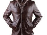 2014秋冬新款男装加绒真皮皮衣 男士时尚商务休闲中长立领外套