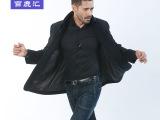 厂家直销2014百鹿汇秋季新品时尚休闲潮男商务夹克型品牌风衣外套
