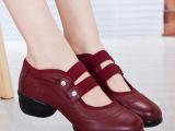 温州女士现代广场跳舞鞋网面透气软底正品真皮女鞋妈妈鞋单鞋女