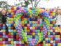 七夕节成都商场 楼盘活动场地气球布置 创意气球装饰