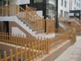供应甘肃兰州木纹色草坪花园围栏