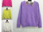 【伙拼】甜美宽松日系麻花套头短款针织衫女 毛衣外套 厂家直销