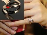 特价进行韩版正品狐仙戒指镀玫瑰金戒指女狐狸戒指尾戒钛钢饰品