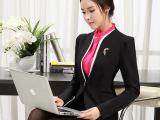 高档厚料立领2014秋冬气质职业套装女式V领优雅职业套裙两件套