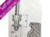 鱼型扶手刀 进口硬钨钢铣刀木工修边刀修边