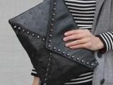 2014夏季新款女士骷髅头铆钉复古信封包 单肩包 斜挎包 邮差包