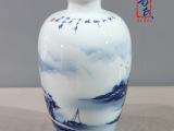 景德镇名家手绘花瓶摆件   釉下彩青花瓷器定做  装饰陶瓷工艺品