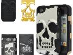 潮牌 骷髅王 组合iphone4 4S 外壳 骷髅手机壳 苹果4 硅胶 PC