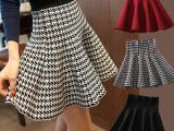 2015年女装短裙韩版高腰半身裙时尚百搭蓬蓬裙批发一件代发A字形