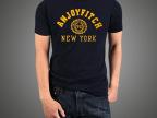 2015年夏季新款 专柜高品质af男短袖 休闲修身潮牌t恤 厂家批发