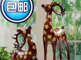 富贵花鹿 树脂摆件/装饰摆件/动物摆件 一对