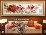 深圳博雅堂书画装裱高中档实木红木画框定制