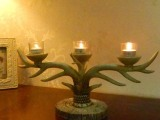 卡提娜 katina  做旧艺术 摆件摆设  树脂鹿角  三烛台