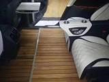 奔驰E级专业改装 改装木地板 航空座椅 九宫格车