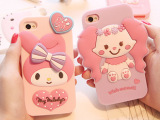韩国kitty小红帽美乐蒂iPhone5苹果4S小白兔硅胶软套手