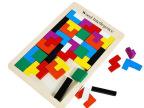 成人智力积木木制拼图积木游戏拼板儿童教益智玩具彩色俄罗斯方块