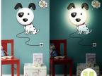 最新创意DIY花颜墙纸壁灯 趣味氛围灯小夜灯 儿童卧室卡通床头灯