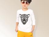 2014秋季新款男童t恤 韩版长袖卡通图案棉质圆领上衣 厂家直销