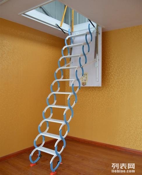 黄南复式阁楼楼梯,室内自动楼梯,家用复式升降楼梯价格,折叠梯