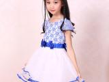 厂家批发 品牌童装蕾丝女童连衣裙 儿童公主裙舞蹈裙夏 一件代发