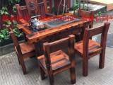 老船木家具仿古茶桌特色龙骨实木创意大型功夫喝泡茶台客厅茶几