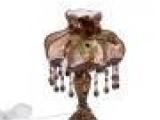 欧式台灯 田园简约布艺台灯 蕾丝加厚灯罩 宫廷复古卧室台灯 小灯