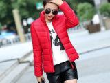 2015秋冬女装韩版短款外套棉衣女式修身大码小棉袄薄款羽绒棉服