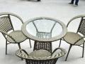 休闲藤桌椅时尚的咖啡桌读书桌会课桌-320元