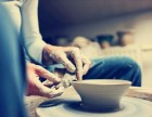软彩陶艺玩泥塑人转盘DIY手工制作拉坯胚暖场活动老师