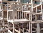 禅意太师椅新中式简约北榆木太师椅圈椅围椅免漆单人椅