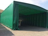 伸缩雨棚推拉蓬移动物流仓库大排档防雨棚大型户外活动停车遮阳棚