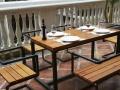 厂家直销复古简易办公会议桌椅 休闲沙发餐厅酒吧咖啡厅实木桌椅