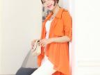 2013新款韩版春秋装休闲显瘦中长款风衣女翻领薄外套开衫