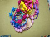 高品质糖果色七彩儿童皮筋 韩版儿童发饰头饰 卡通发绳发圈