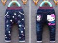 长沙童装批发网厂家最低价秋冬季儿童加绒牛仔裤卫衣批发保证质量