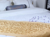 喜牌 宾馆酒店客房床上用品布草配套 床尾巾 床尾垫 床旗 批发