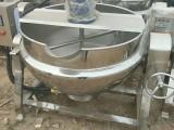 出售二手夹层锅 电蒸汽加热搅拌型刮板式立式可倾斜夹层锅