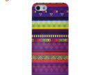 case-face品牌新品苹果iphone5/5S印第安图腾纹紫色款手机壳批发