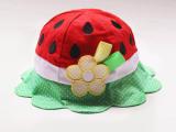 2014最新爆款超可爱西瓜造型宝宝渔夫帽 女童遮阳帽 儿童春夏帽