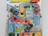 吸卡混配儿童玩具跑车赛车 塑料塑胶车模型