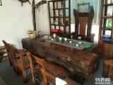 老船木茶台 中山船木一品家具厂 老船木茶桌 沉船木茶台