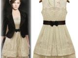 春秋款新欧美女装宫廷复古蕾丝连衣裙气质修身无袖背心裙女夏季