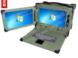 15寸下翻式双屏工业便携机机箱定制工控一体机电脑