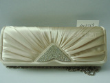 缎面褶皱镶钻晚宴包 晚礼包 硬包 手袋 QX11369