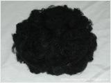 长期供应黑色1.5D*38MM涤纶短纤维,涤纶化纤,再生涤纶化纤