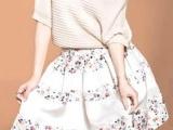 爆款 韩国绒网纱雪纺碎花 半身裙